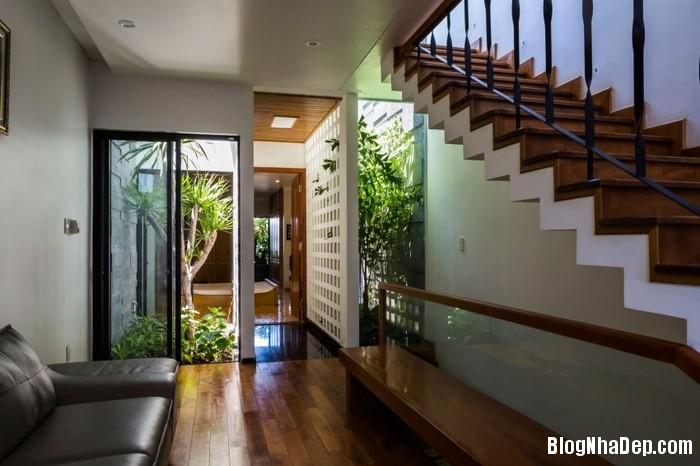 nha pho 4 tang ngap tran cay xanh o da nang 7 062800305 Mẫu ngôi nhà 4 tầng với vườn cây xanh mát quanh năm ở Đà Nẵng