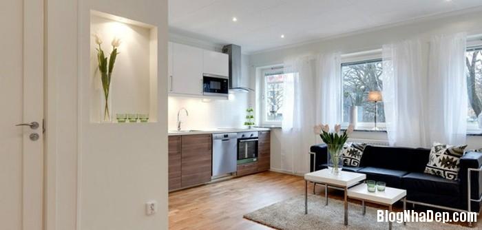 can ho mau trang 1 222529898 Mẫu căn hộ 30m2 rộng thoáng bất ngờ với gam màu trắng