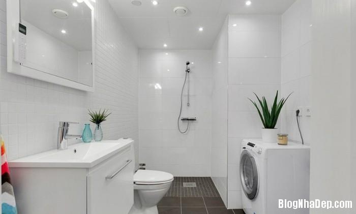 can ho mau trang 6 222530 Mẫu căn hộ 30m2 rộng thoáng bất ngờ với gam màu trắng