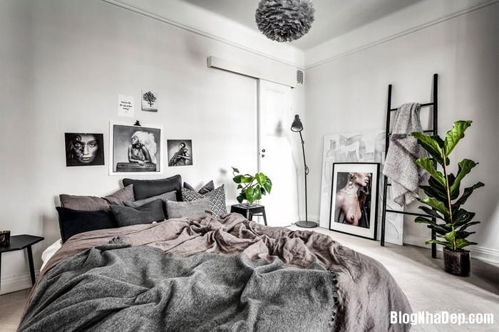 can ho 45m2 dep cuon hut voi mau den trang5 0414355411 Mẫu căn hộ nhỏ 43m2 đẹp cuốn hút với màu đen trắng