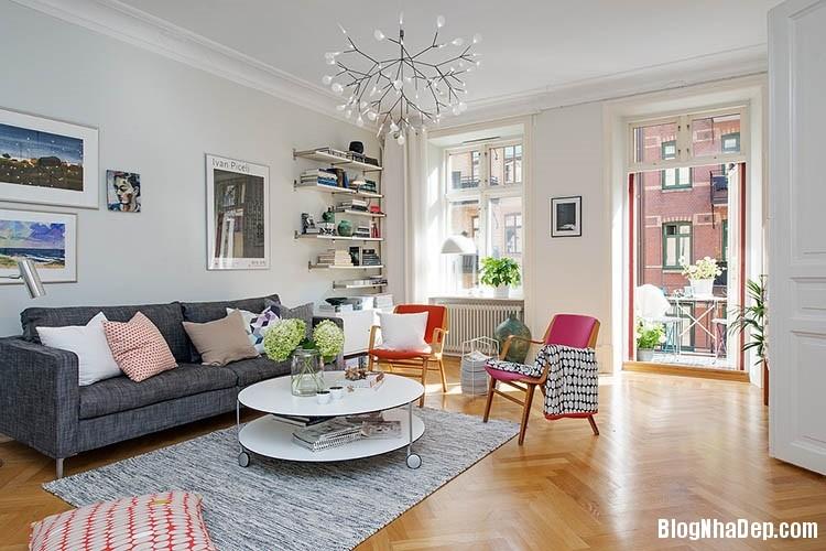 thiet ke can ho dep phong cach scandinavian 1 Thiết kế nội thất căn hộ chung cư đẹp theo phong cách scandinavian