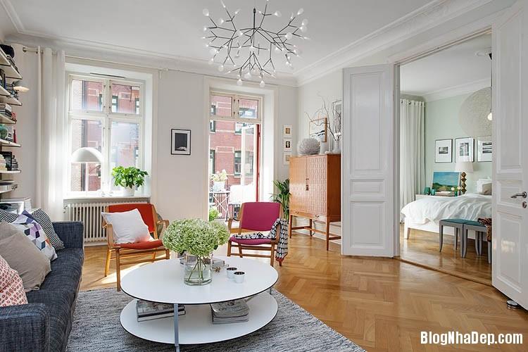 thiet ke can ho dep phong cach scandinavian 2 Thiết kế nội thất căn hộ chung cư đẹp theo phong cách scandinavian