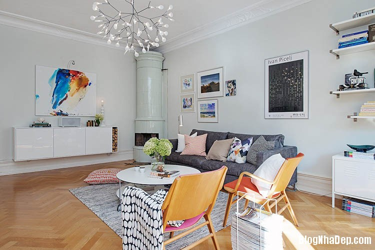 thiet ke can ho dep phong cach scandinavian 3 Thiết kế nội thất căn hộ chung cư đẹp theo phong cách scandinavian