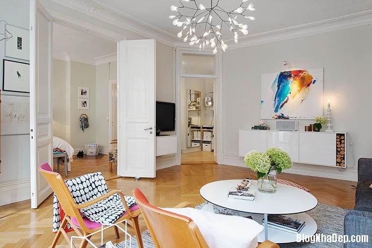 thiet ke can ho dep phong cach scandinavian 6 Thiết kế nội thất căn hộ chung cư đẹp theo phong cách scandinavian