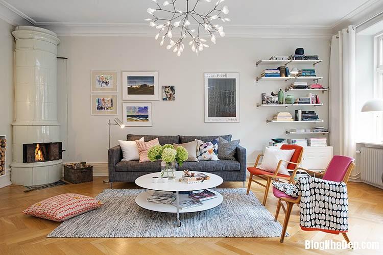 thiet ke can ho dep phong cach scandinavian 7 Thiết kế nội thất căn hộ chung cư đẹp theo phong cách scandinavian