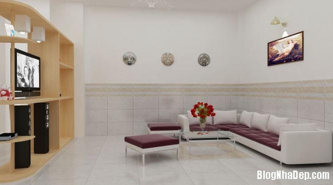 155059baoxaydung image001 Cách ăn gian diện tích phòng khách khi chọn gạch ốp chân tường