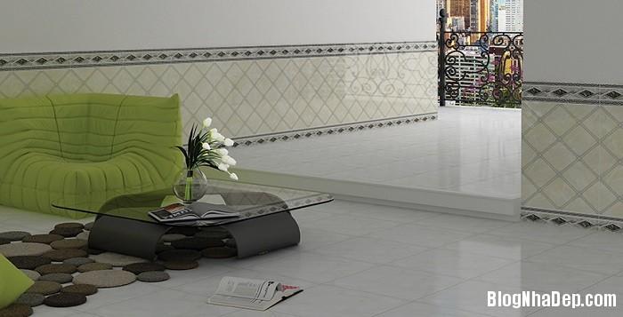 155059baoxaydung image002 Cách ăn gian diện tích phòng khách khi chọn gạch ốp chân tường