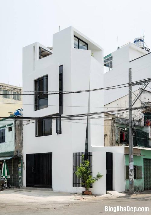 082552l 1 Nhà 27m2 nổi bật giữa phố Sài Gòn vì có kiến trúc lạ