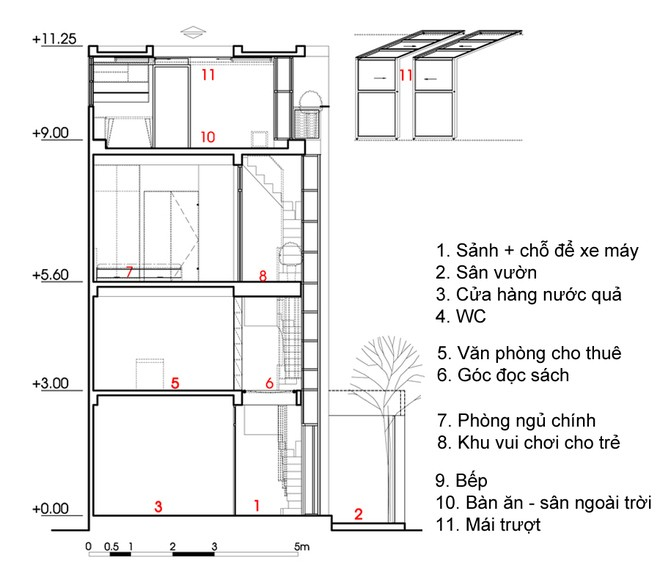 082609l 9 Nhà 27m2 nổi bật giữa phố Sài Gòn vì có kiến trúc lạ