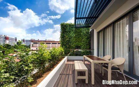 082525l 8 Mẫu căn biệt thự đẹp có mảng tường xanh mát