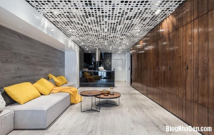 075702l 1 Mẫu căn hộ 110m2 ở Hà Nội lột xác sang trọng nhờ thiết kế mở và gỗ công nghiệp