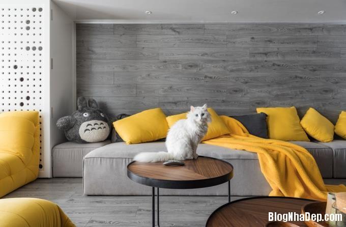 075702l 2 Mẫu căn hộ 110m2 ở Hà Nội lột xác sang trọng nhờ thiết kế mở và gỗ công nghiệp