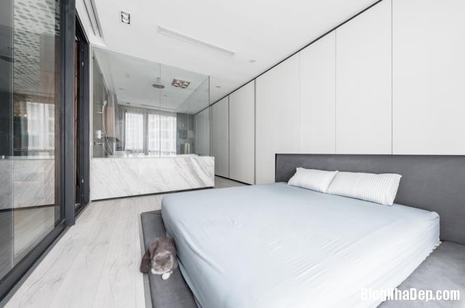 075716l 7 Mẫu căn hộ 110m2 ở Hà Nội lột xác sang trọng nhờ thiết kế mở và gỗ công nghiệp