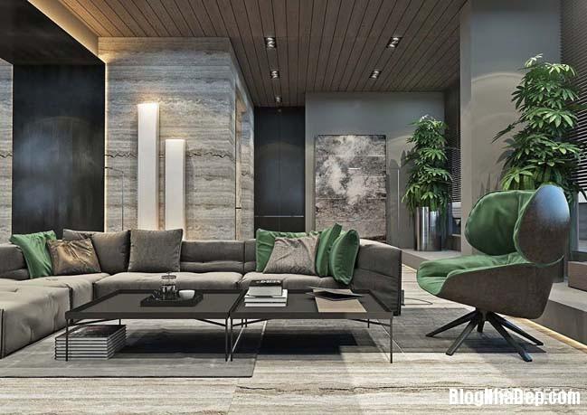 can ho duplex penthouse 02 Mẫu căn hộ duplex penthouse lấy cảm hứng từ rừng nhiệt đới