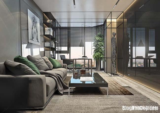 can ho duplex penthouse 04 Mẫu căn hộ duplex penthouse lấy cảm hứng từ rừng nhiệt đới