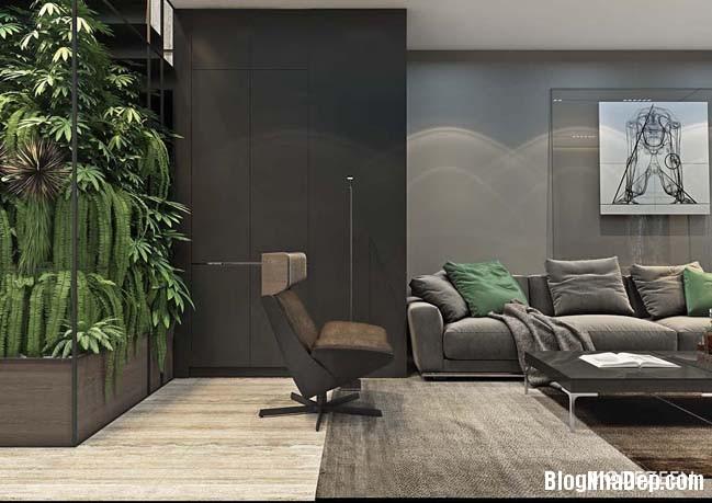 can ho duplex penthouse 06 Mẫu căn hộ duplex penthouse lấy cảm hứng từ rừng nhiệt đới