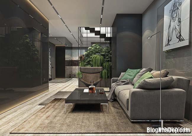 can ho duplex penthouse 07 Mẫu căn hộ duplex penthouse lấy cảm hứng từ rừng nhiệt đới