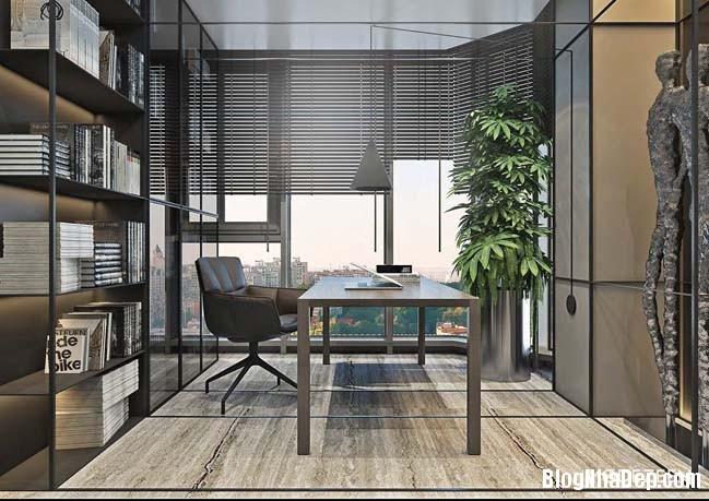 can ho duplex penthouse 08 Mẫu căn hộ duplex penthouse lấy cảm hứng từ rừng nhiệt đới