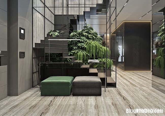can ho duplex penthouse 09 Mẫu căn hộ duplex penthouse lấy cảm hứng từ rừng nhiệt đới