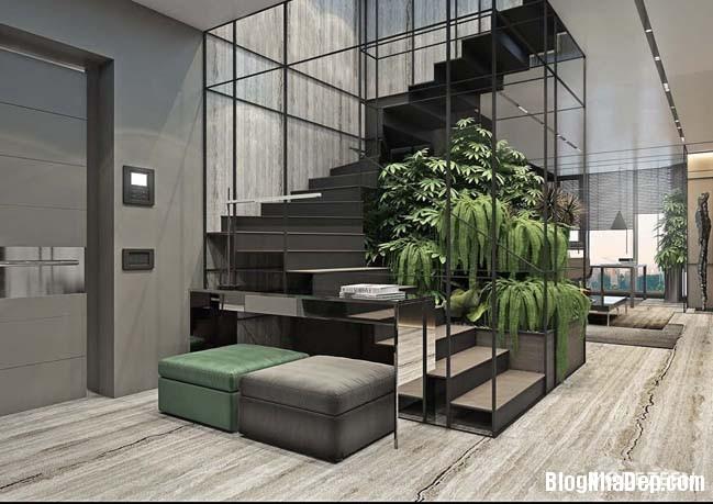 can ho duplex penthouse 10 Mẫu căn hộ duplex penthouse lấy cảm hứng từ rừng nhiệt đới