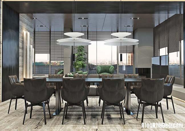 can ho duplex penthouse 11 Mẫu căn hộ duplex penthouse lấy cảm hứng từ rừng nhiệt đới