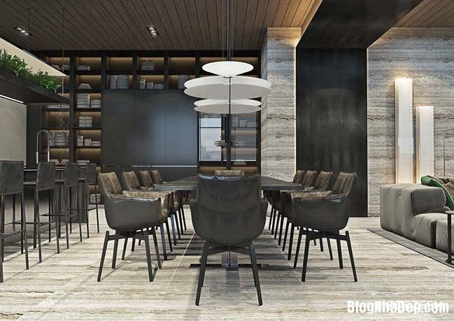 can ho duplex penthouse 13 Mẫu căn hộ duplex penthouse lấy cảm hứng từ rừng nhiệt đới