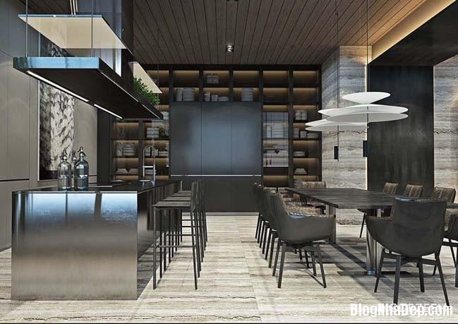 can ho duplex penthouse 14 Mẫu căn hộ duplex penthouse lấy cảm hứng từ rừng nhiệt đới