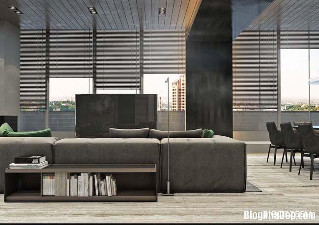 can ho duplex penthouse 15 Mẫu căn hộ duplex penthouse lấy cảm hứng từ rừng nhiệt đới