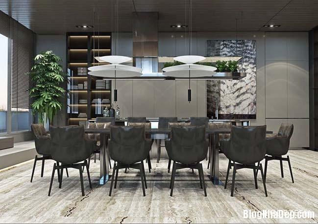can ho duplex penthouse 17 Mẫu căn hộ duplex penthouse lấy cảm hứng từ rừng nhiệt đới