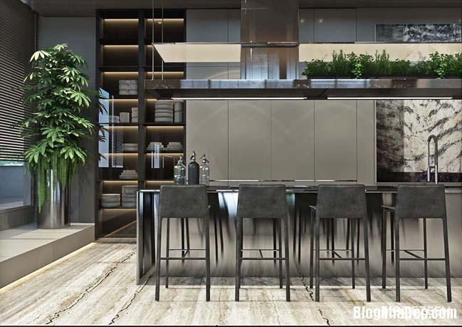 can ho duplex penthouse 18 Mẫu căn hộ duplex penthouse lấy cảm hứng từ rừng nhiệt đới