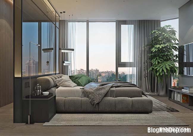 can ho duplex penthouse 20 Mẫu căn hộ duplex penthouse lấy cảm hứng từ rừng nhiệt đới