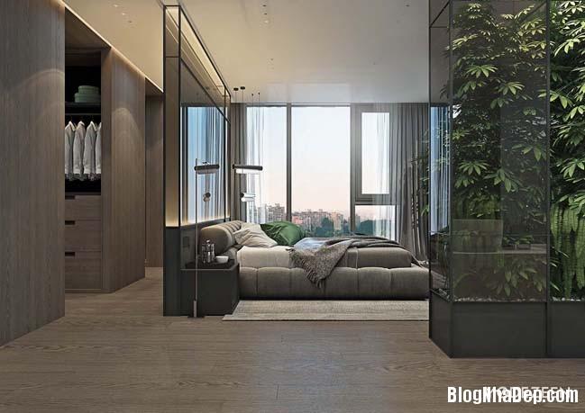 can ho duplex penthouse 22 Mẫu căn hộ duplex penthouse lấy cảm hứng từ rừng nhiệt đới