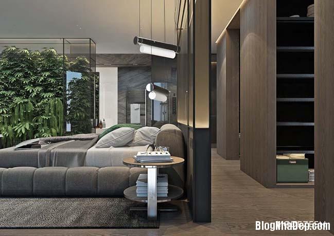 can ho duplex penthouse 23 Mẫu căn hộ duplex penthouse lấy cảm hứng từ rừng nhiệt đới