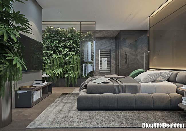 can ho duplex penthouse 27 Mẫu căn hộ duplex penthouse lấy cảm hứng từ rừng nhiệt đới