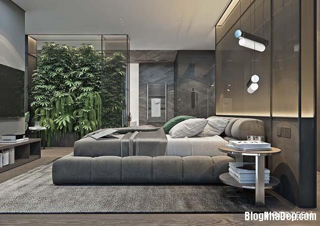can ho duplex penthouse 28 Mẫu căn hộ duplex penthouse lấy cảm hứng từ rừng nhiệt đới