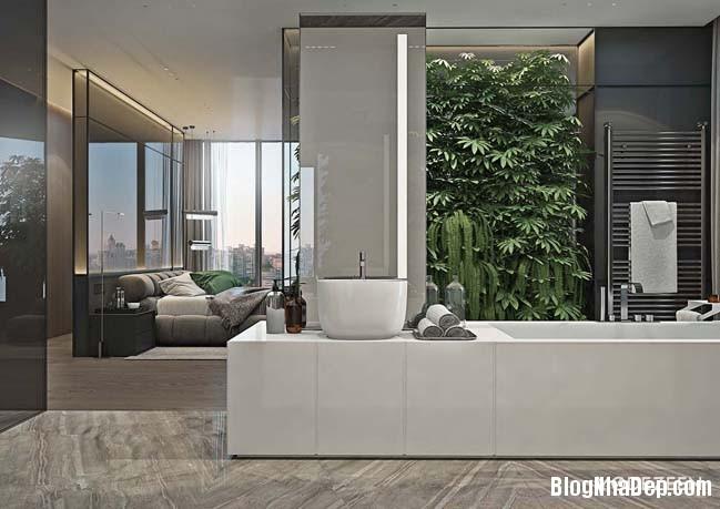 can ho duplex penthouse 29 Mẫu căn hộ duplex penthouse lấy cảm hứng từ rừng nhiệt đới