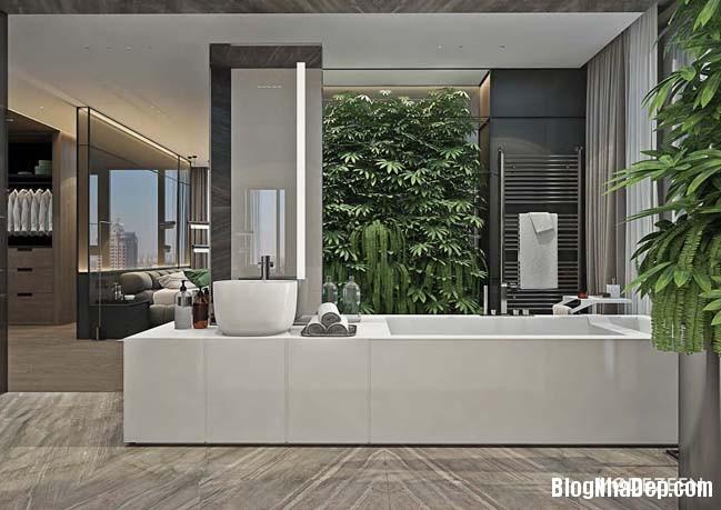 can ho duplex penthouse 30 Mẫu căn hộ duplex penthouse lấy cảm hứng từ rừng nhiệt đới