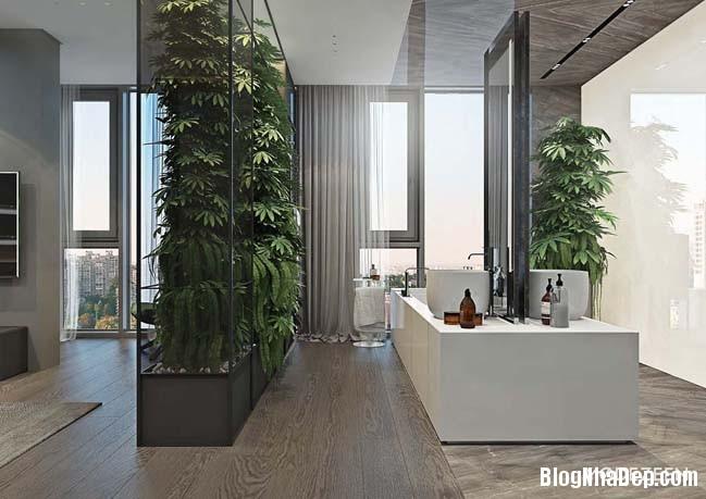 can ho duplex penthouse 31 Mẫu căn hộ duplex penthouse lấy cảm hứng từ rừng nhiệt đới