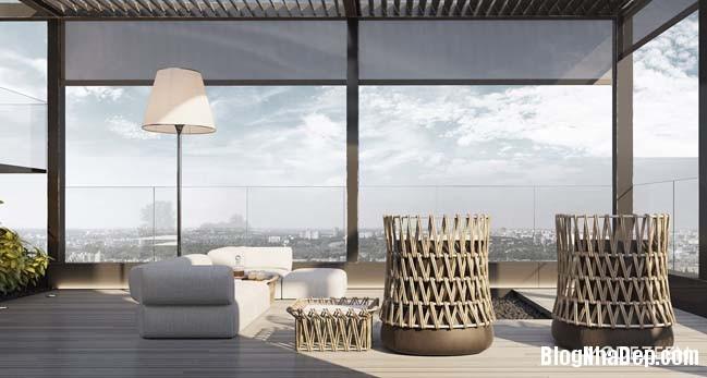 can ho duplex penthouse 33 Mẫu căn hộ duplex penthouse lấy cảm hứng từ rừng nhiệt đới