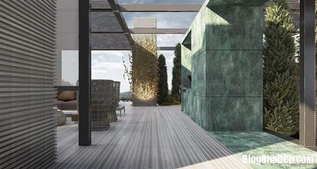 can ho duplex penthouse 35 Mẫu căn hộ duplex penthouse lấy cảm hứng từ rừng nhiệt đới