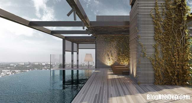 can ho duplex penthouse 36 Mẫu căn hộ duplex penthouse lấy cảm hứng từ rừng nhiệt đới