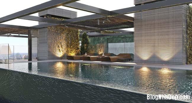 can ho duplex penthouse 37 Mẫu căn hộ duplex penthouse lấy cảm hứng từ rừng nhiệt đới