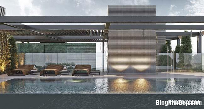 can ho duplex penthouse 38 Mẫu căn hộ duplex penthouse lấy cảm hứng từ rừng nhiệt đới