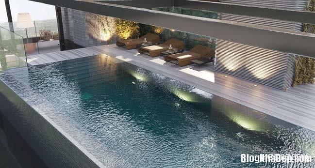 can ho duplex penthouse 39 Mẫu căn hộ duplex penthouse lấy cảm hứng từ rừng nhiệt đới