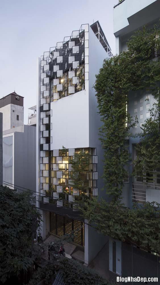 mau nha pho dep tai ha noi 01 Mẫu nhà phố đẹp với thiết kế đầy phá cách tại Hà Nội