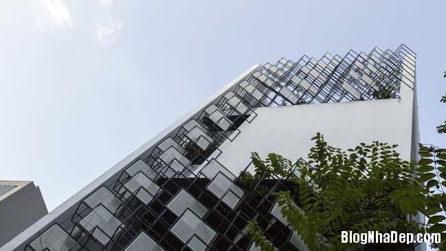 mau nha pho dep tai ha noi 02 Mẫu nhà phố đẹp với thiết kế đầy phá cách tại Hà Nội
