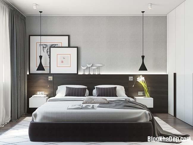 can ho cao cap 1 phong ngu 10 Mẫu thiết kế sang trọng cho căn hộ cao cấp 1 phòng ngủ