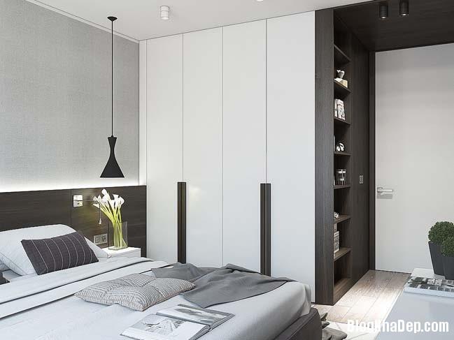 can ho cao cap 1 phong ngu 11 Mẫu thiết kế sang trọng cho căn hộ cao cấp 1 phòng ngủ