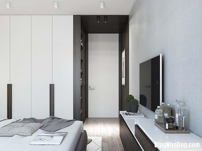 can ho cao cap 1 phong ngu 12 Mẫu thiết kế sang trọng cho căn hộ cao cấp 1 phòng ngủ