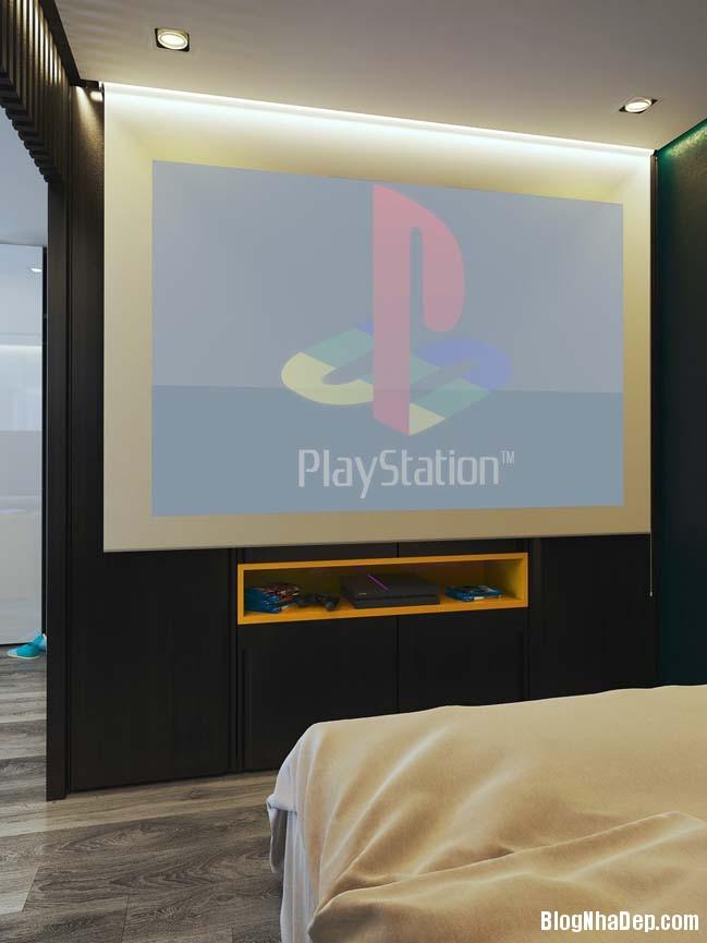 can ho chung cu nho cho game thu 11 Mẫu căn hộ chung cư nhỏ đẹp dành cho các game thủ
